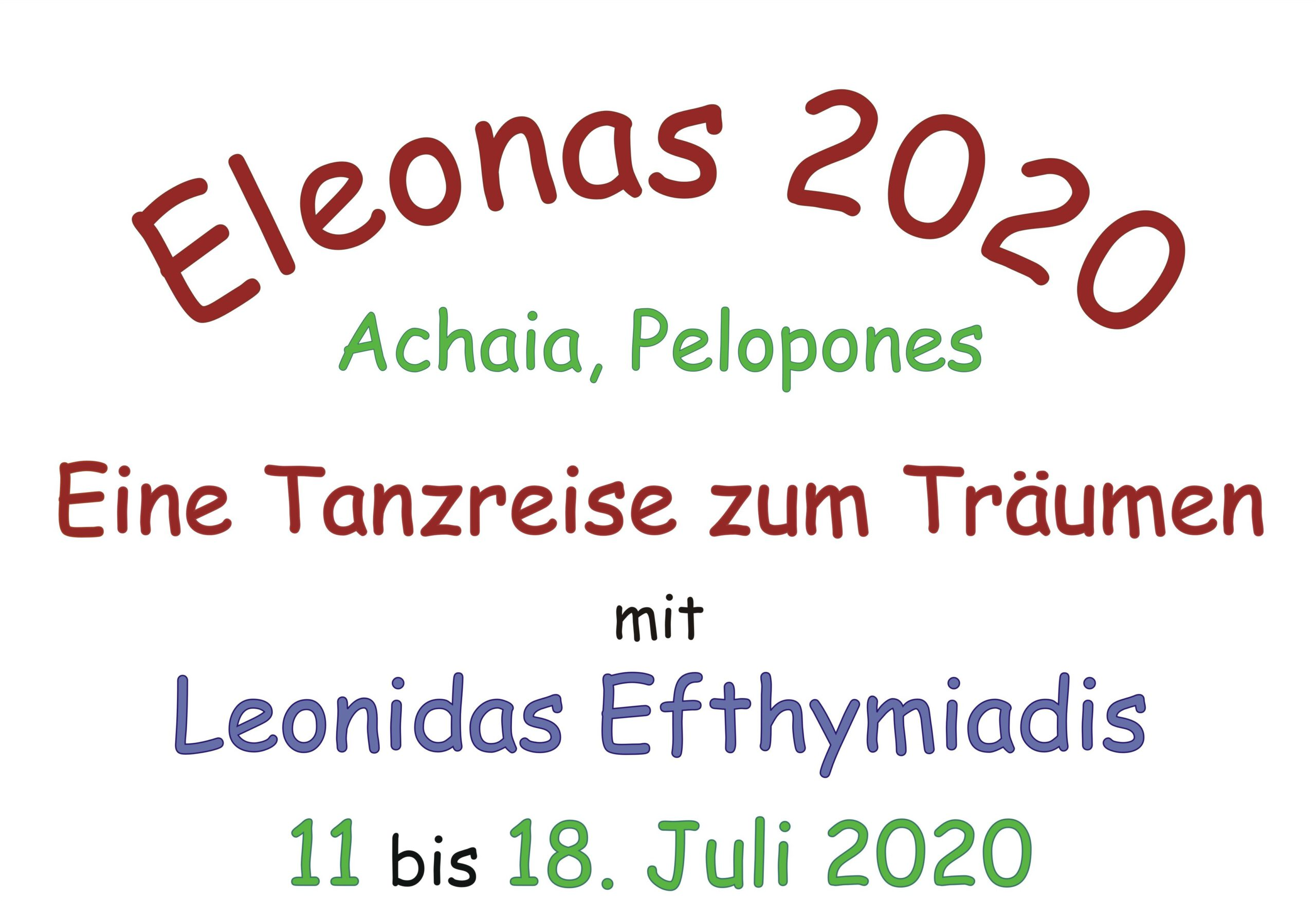 "Tanzreise ""Eleonas 2020"" (DE) @ Dimitropoulos Apartements"