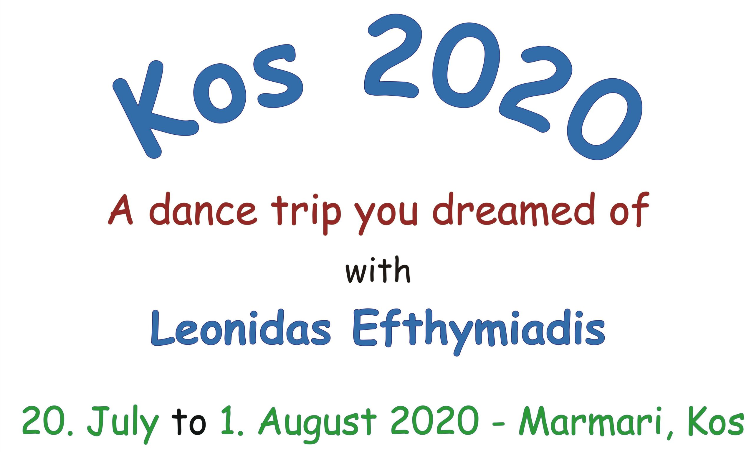 """Dance trip """"Kos 2020"""" (ENG) @ Marmari / Kos"""