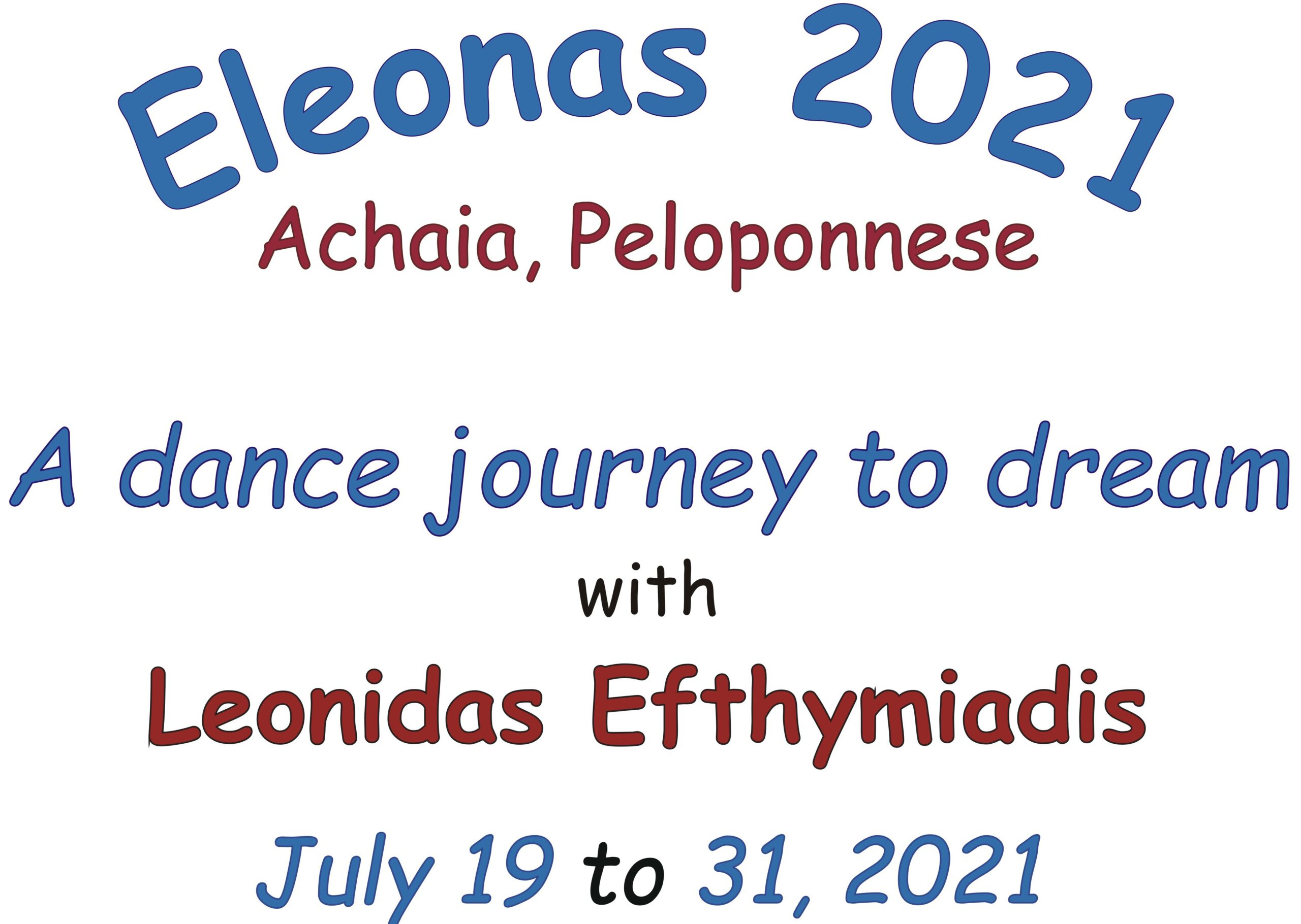"Dance journey ""Eleonas 2021"""